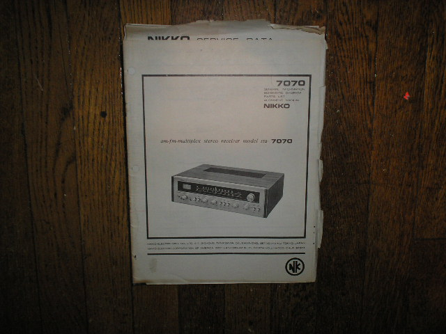 STA-7070 AM FM Stereo Receiver Service Manual with Schematic