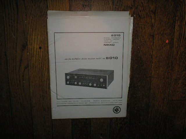 STA-8010 AM FM Stereo Receiver Service Manual with Schematic