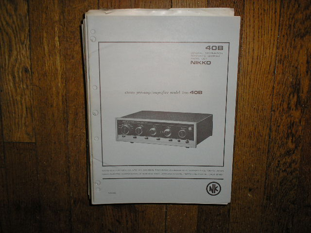 TRM-40B Amplifier Service Manual with Schematic