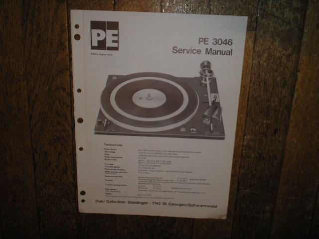 DUAL  PE 3046 Turntable Sevice Manuall