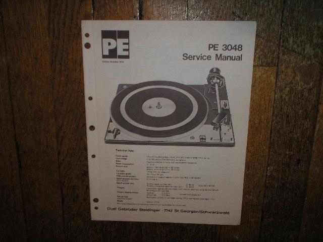 DUAL  PE 3048 Turntable Sevice Manual