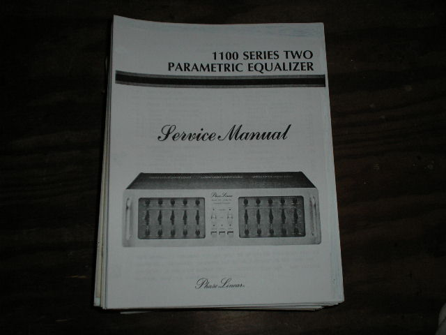 Model 1100 Series Two 2 Parametric Equalizer Service Manual