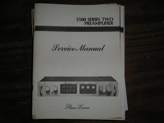 3500 Series Two 2 Pre-Amplifier Service Manual