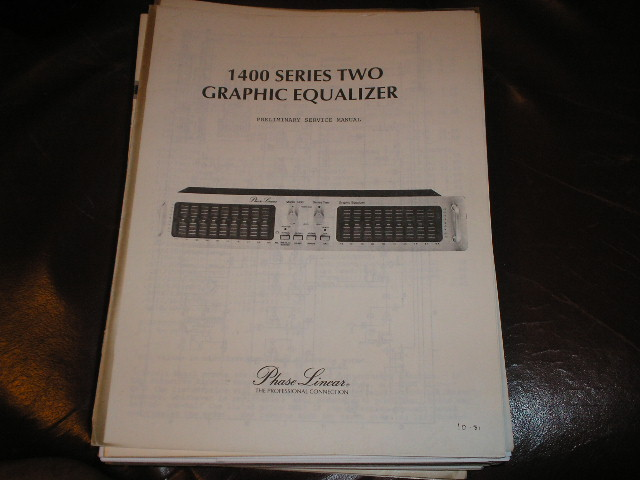 1400 Series Two 2 Graphic Equalizer Preliminary Service Manual
