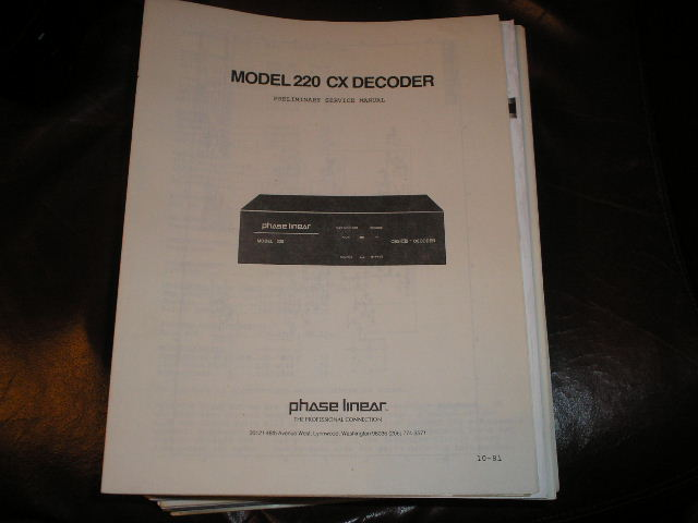 220CX Decoder Service Manual
