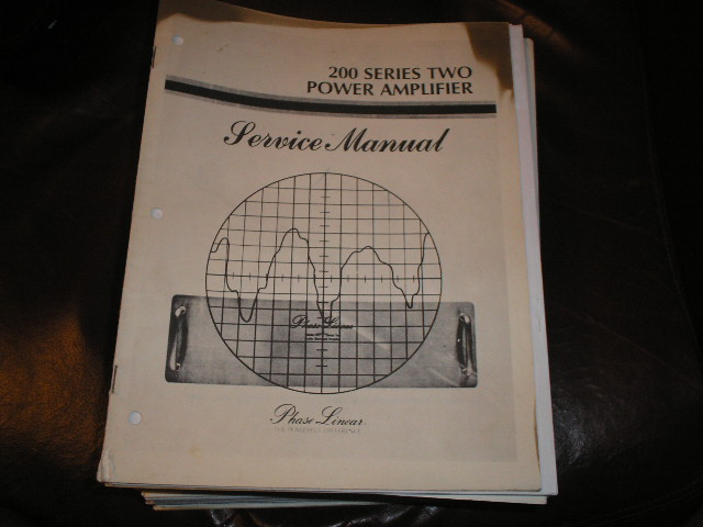 200 Series Two 2 Power Amplifier Service Manual