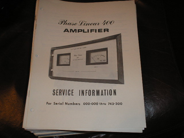 400 Power Amplifier Service Manual for Serial # 000-000 thru 743-300