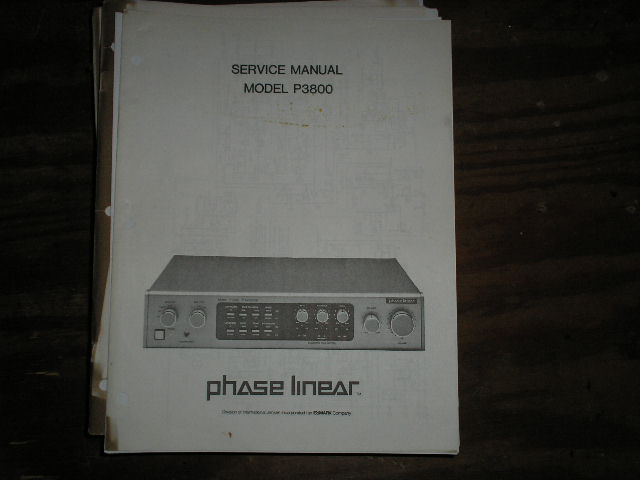 P3800 Pre-Amplifier Service Manual