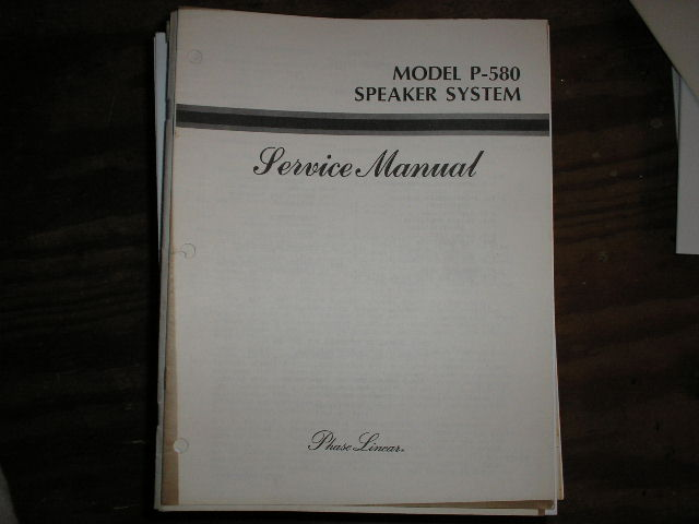 P-580 Speaker System Service Manual