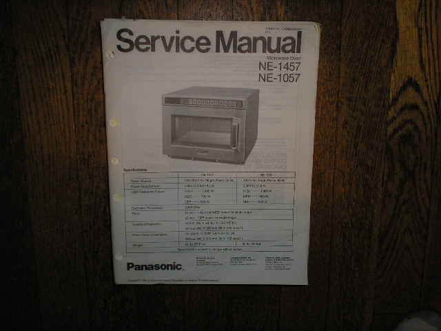NE-1057 NE-1457 Microwave Oven Service Repair Manual