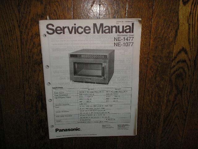NE-1077 NE-1477 Microwave Oven Service Repair Manual