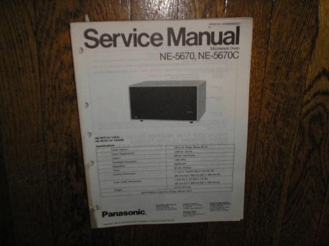 NE-5670 NE-5670C Microwave Oven Service Repair Manual