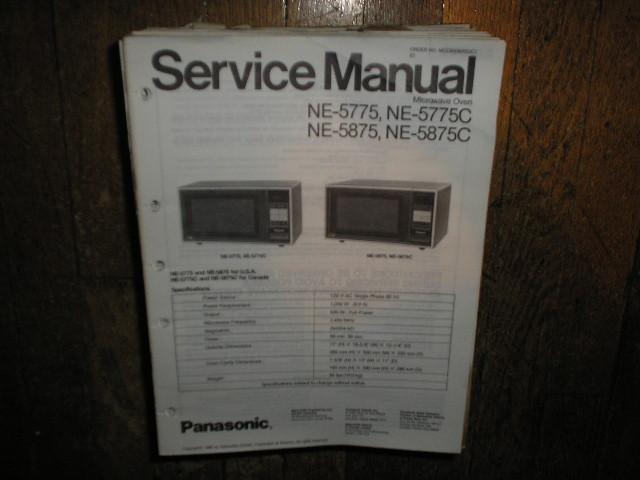NE-5775 NE-5775C NE-5875 NE-5875C Microwave Oven Service Repair Manual