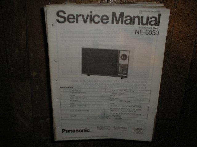 NE-6030 Microwave Oven Service Repair Manual