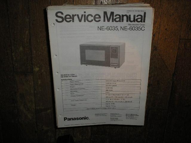 NE-6035 NE-6035C Microwave Oven Service Repair Manual