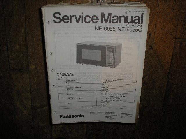 NE-6055 NE-6055C Microwave Oven Service Repair Manual