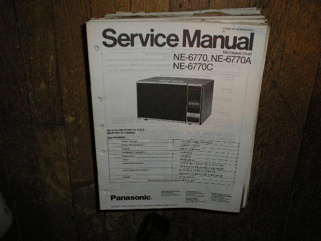 NE-6770 NE-6770A NE-6770C Microwave Oven Service Repair Manual