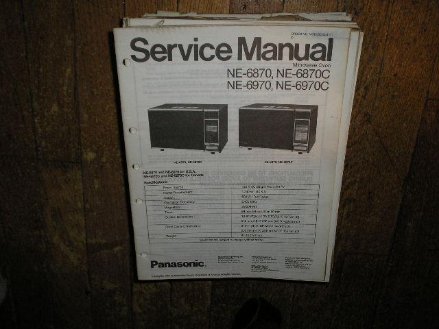 NE-6870 NE-6870C NE-6970 NE-6970C Microwave Oven Service Repair Manual