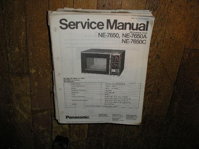 NE-7650 NE-7650A NE-7650C Microwave Oven Service Repair Manual