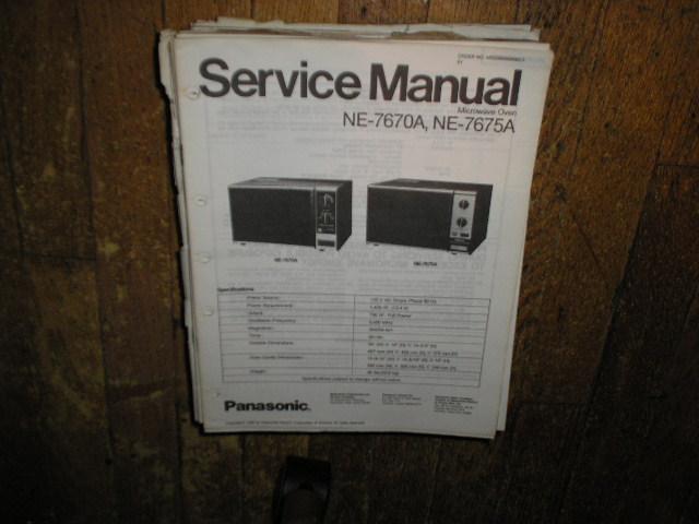 NE-7670A NE-7675A Microwave Oven Service Repair Manual