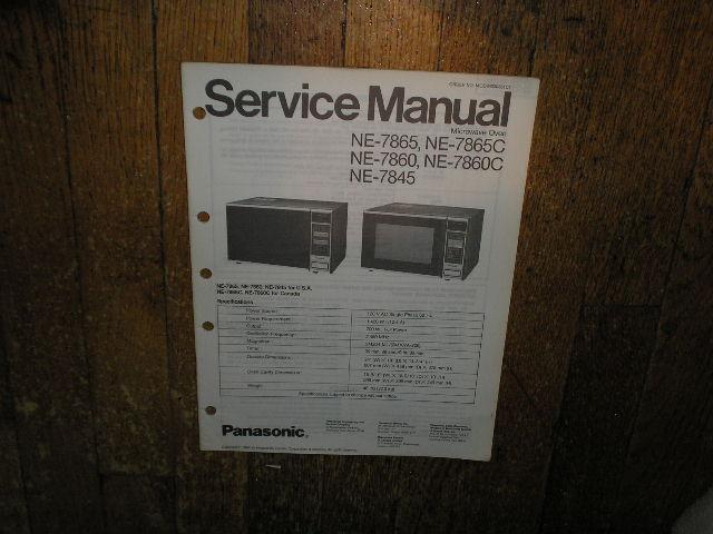NE-7845 NE-7860 NE-7860C NE-7865 NE-7865C Microwave Oven Service Repair Manual
