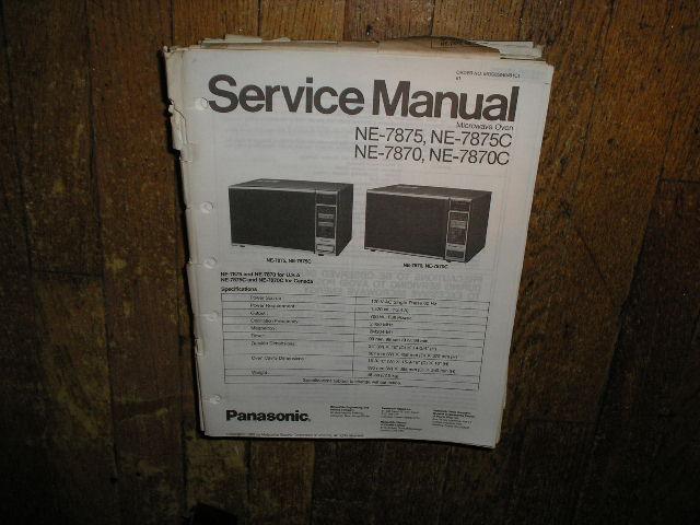 NE-7870 NE-7870C NE-7875 NE-7875C Microwave Oven Service Repair Manual