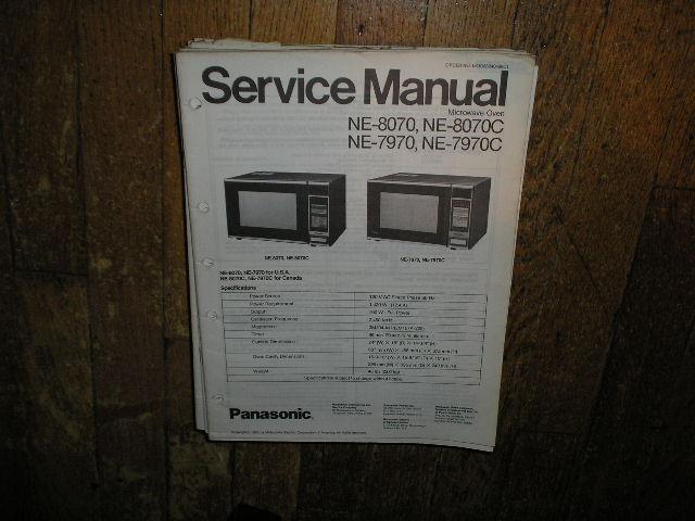 NE-7970 NE-7970C NE-8070 NE-8070C Microwave Oven Service Repair Manual