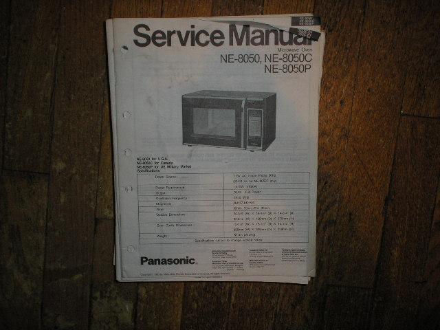 NE-8050 NE-8050C NE-8050P Microwave Oven Service Repair Manual