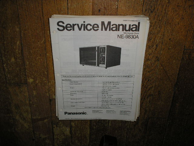 NE-9830A Microwave Oven Service Repair Manual