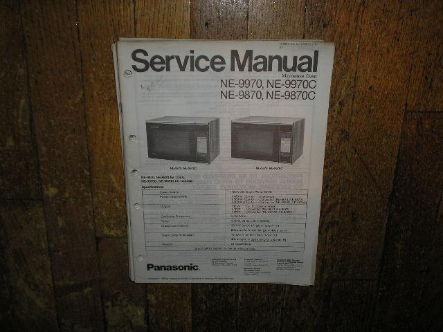 NE-9870 NE-9870C NE-9970 NE-9970C Microwave Oven Service Repair Manual