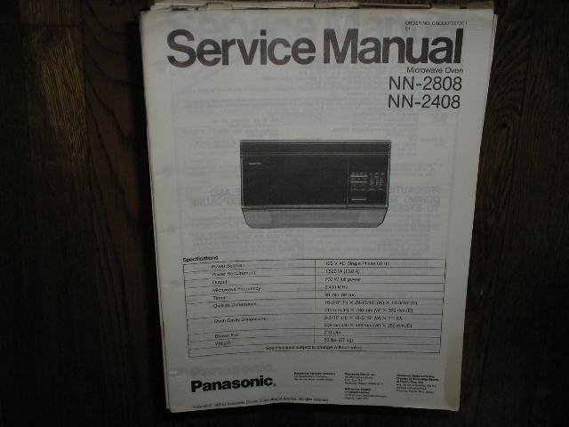 NN-2408 NN-2808 Microwave Oven Service Repair Manual