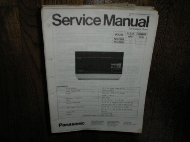 NN-2909 NN-2959 Microwave Oven Service Repair Manual