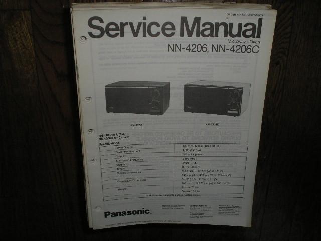 NN-4206 NN-4206C Microwave Oven Service Repair Manual