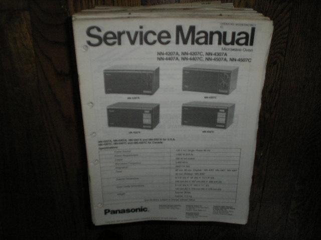 NN-4207A NN-4207C NN-4307A NN-4407A NN-4407C NN-4507A NN-4507C Microwave Oven Service Repair Manual