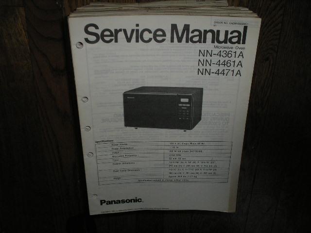 NN-4361A NN-4461A NN-4471A Microwave Oven Service Repair Manual