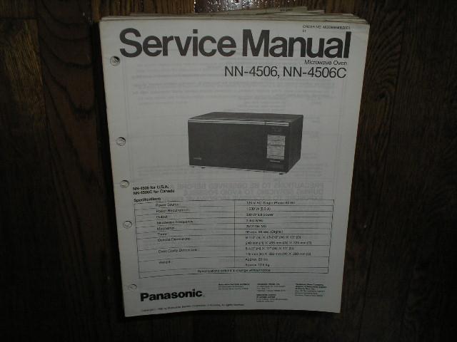 NN-4506 NN-4506C Microwave Oven Service Repair Manual