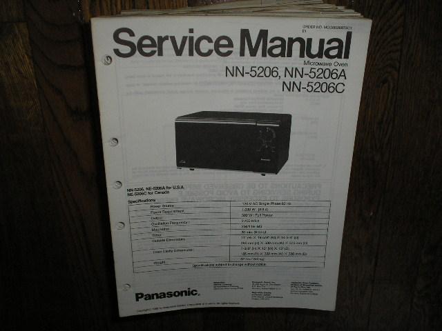 NN-5206 NN-5206A NN-5206C Microwave Oven Service Repair Manual