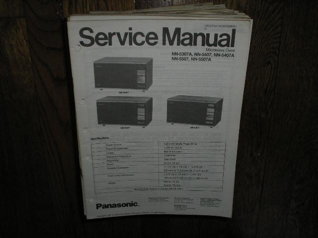 NN-5307A NN-5407 NN-5407A NN-5507 NN-5507A Microwave Oven Service Repair Manual