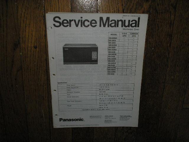 NN-5309A NN-5509 NN-5509A NN-5539A NN-5549 NN-5809 NN-5809A NN-5859 Microwave Oven Service Manual