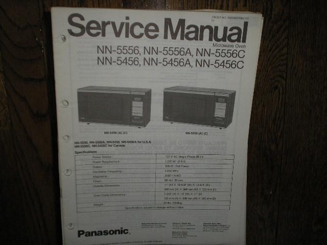 NN-5456 NN-5456A NN-5456C NN-5556 NN-5556A NN-5556C Microwave Oven Service Repair Manual