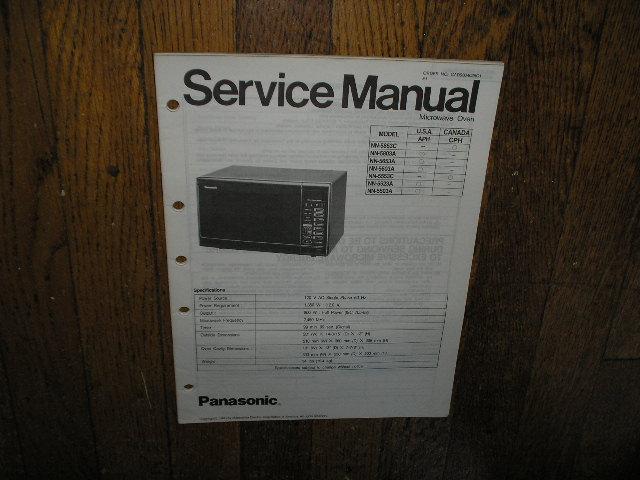 NN-5503A NN-5523A NN-5553C NN-5603A NN-5653A NN-5803A NN-5853C Microwave Oven Service Repair Manual