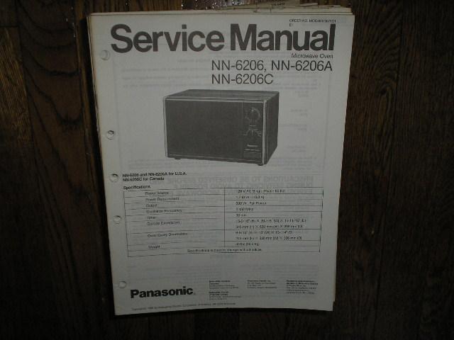 NN-6206 NN-6206A NN-6206C Microwave Oven Service Repair Manual