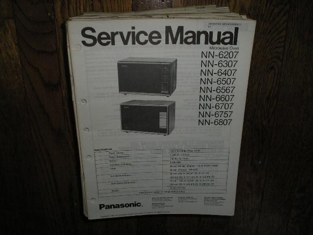 NN-6207 NN-6307 NN-6407 NN-6507 NN-6567 NN-6607 NN-6707 NN-6757 NN-6807 Microwave Oven Service Repair Manual