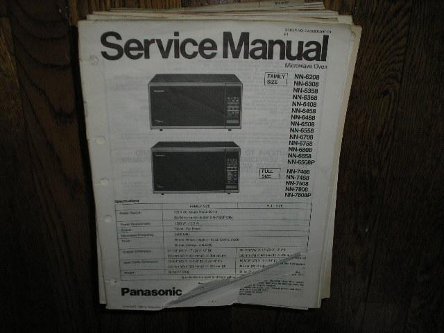 NN-6208 NN-7408 NN-7458 NN-7508 NN-7808 NN-7808P Microwave Oven Service Repair Manual