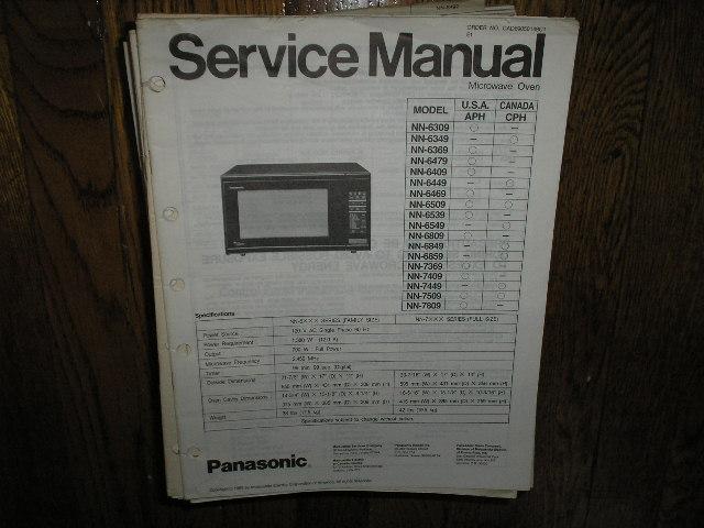 NN-6309 NN-6349 NN-6369 NN-6479 NN-6409 NN-6449 NN-6469 NN-6509 NN-6539 NN-6549 NN-6809 NN-6849 NN-6859 NN-7369 NN-7409 NN-7449 NN-7509 NN-7809 Microwave Oven Service Repair Manual