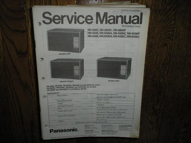 NN-6406 NN-6406A NN-6406C NN-6456C NN-6506 A C P NN-6806 C P Microwave Oven Service Repair Manual