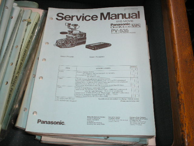PV-535 VHS Camcorder Service Manual