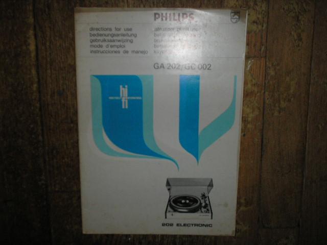 Philips NAP GA202 GC002 Turntable Service Manual