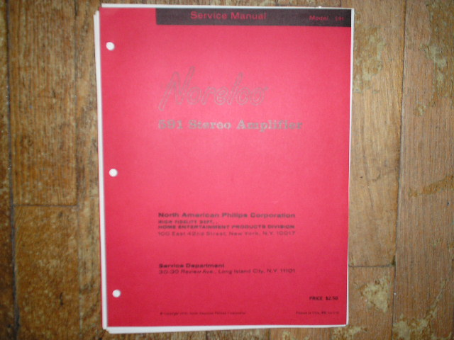Norelco Philips NAP 591 Stereo Amplifier Service Manual