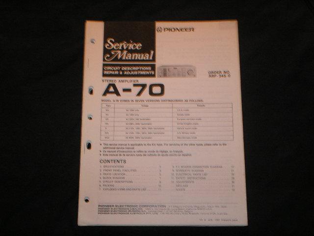 A-70 Amplifier Service Manual